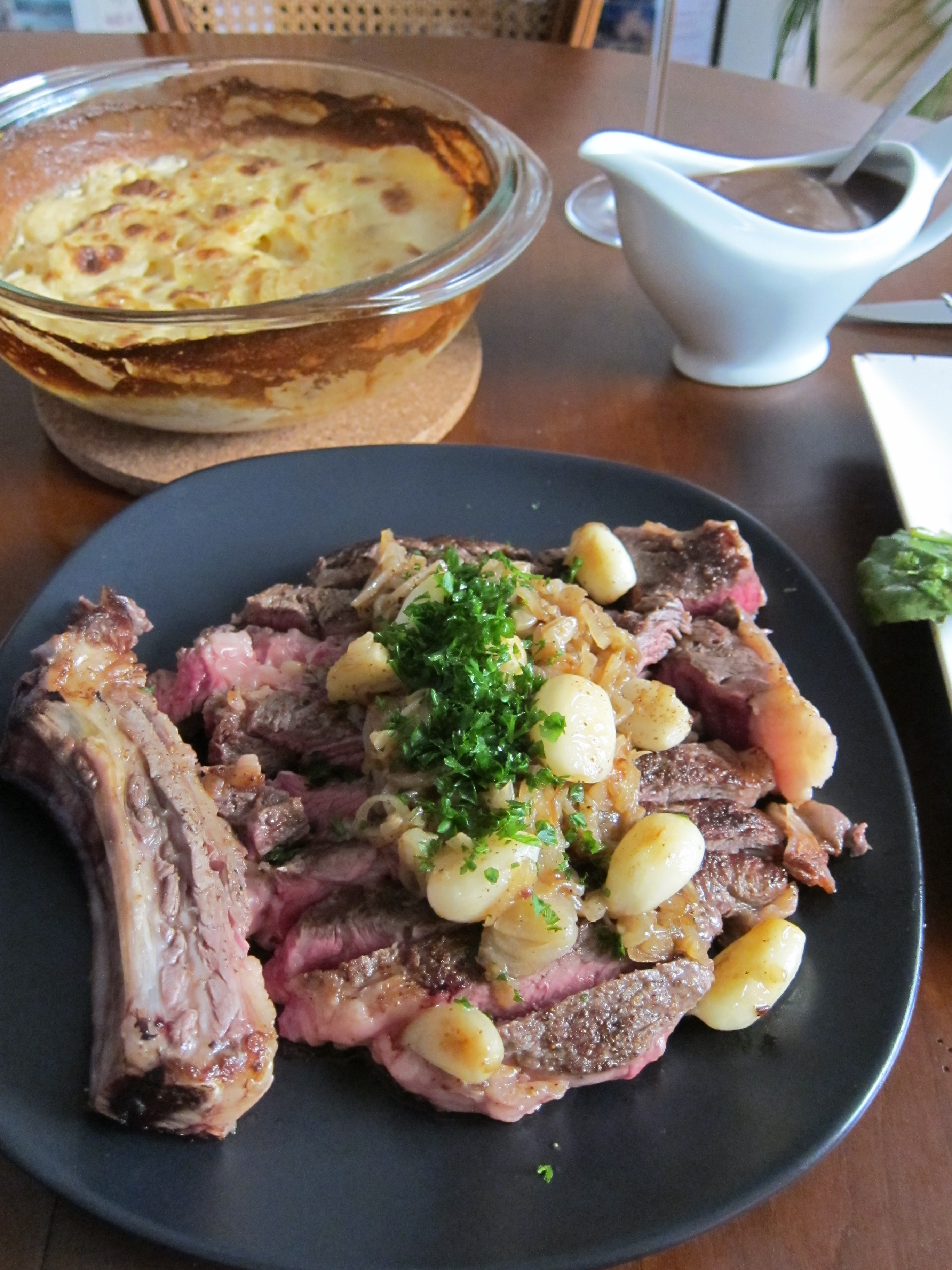 Cote De Boeuf With Caramelized Shallots Recipes — Dishmaps